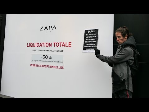Manifestation anti-fourrure Zapa - Paris 19 janvier 2019