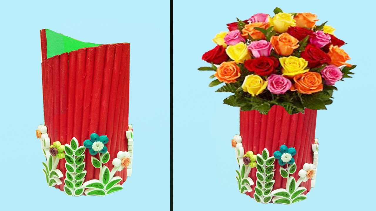 25 best how to make paper quilling flowers how to make beautiful paper flower vase paper quilling art youtube for how to mightylinksfo