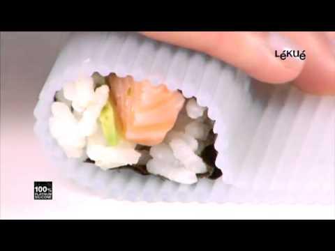 Lekue Silicone Sushi Rolling Mat Youtube