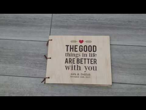 Personalized Wood Guest Book