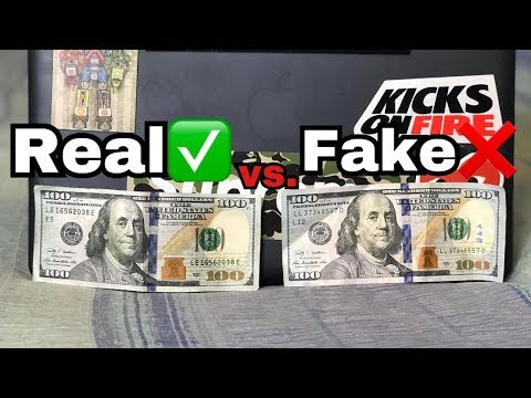 How To Tell If An 100 Bill Is Real Or Fake/ $100 Bill Real Vs Fake  (@hey_ozzy On Instagram)