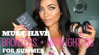 Must Have BRONZERS + HIGHLIGHTERS for Summer Thumbnail