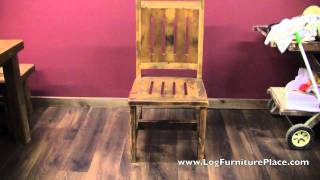 Barnwood Dining Chair From The Black Mountain Collection