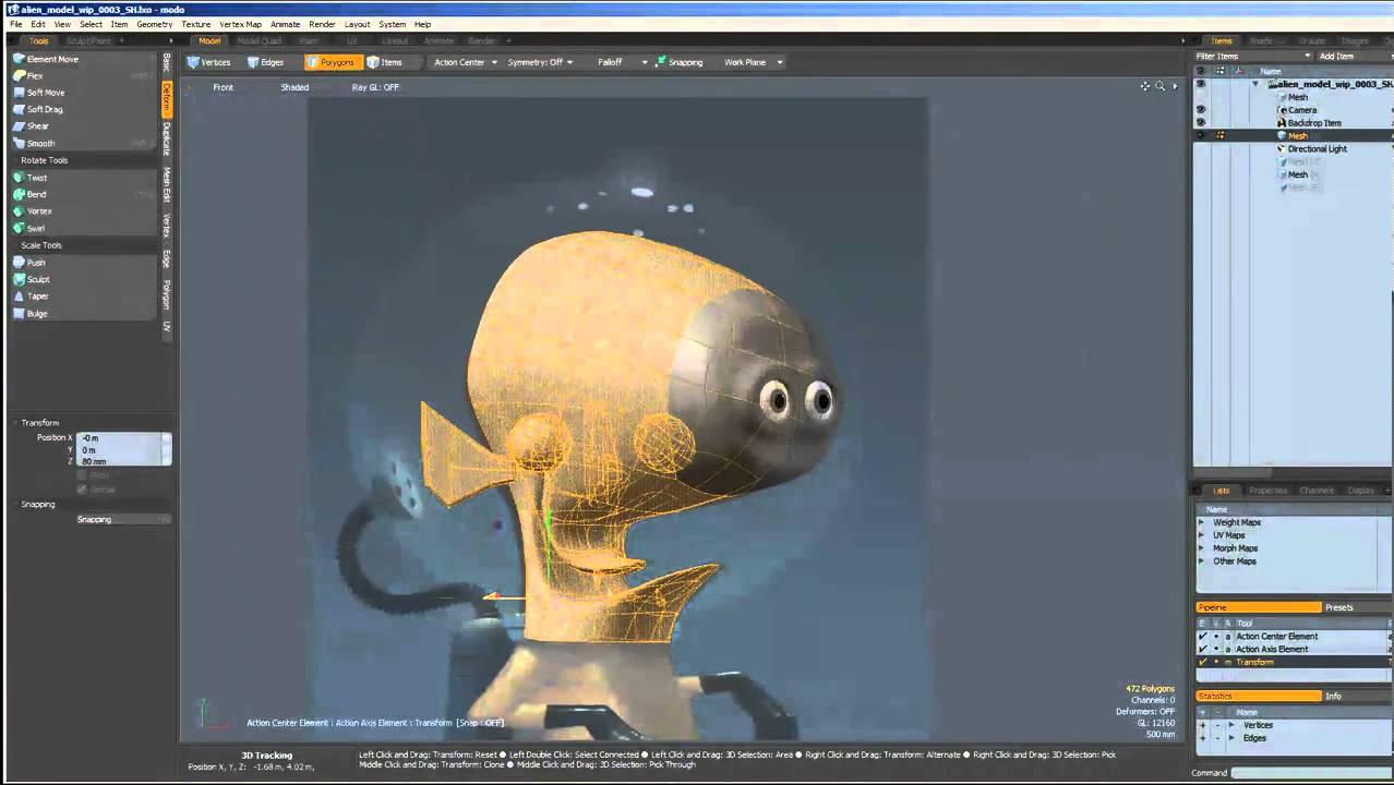 character modeling demo - blocking head part 2