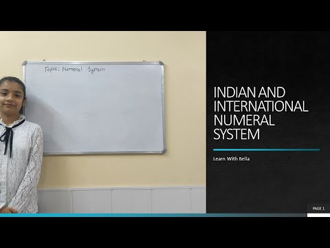 Indian and International Numeral System| Numeral System| Learn With Bella
