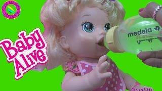 Vui Cùng Baby Alive (Phần 2)  Búp Bê Tương Tác Ăn Thức Ăn & Ỉa  Chị Bí Đỏ Dạy Cách Thay Tã Em Bé