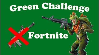 Green challenge (Fortnite Battle Royale)