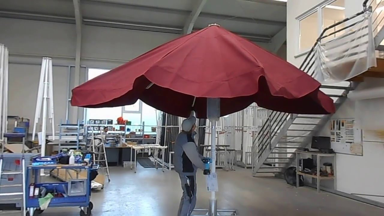 How To Open A Square Giant Patio Umbrella