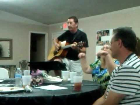 Bill Henson Singing one of his Originals for Peanut's Birthday Party 08/17/2012
