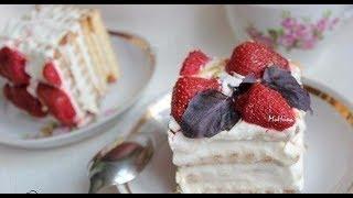 готовим ТОРТ ИЗ ПЕЧЕНЬЯ  И ТВОРОГА.Вкусный рецепт торта из печенья и творога. Приготовь себе Сам