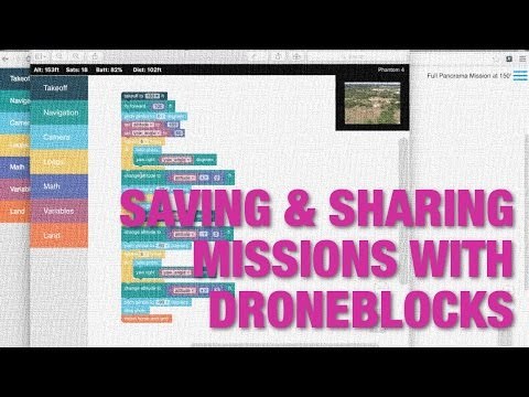 Saving and Sharing Missions on Desktop and iPad with DroneBlocks