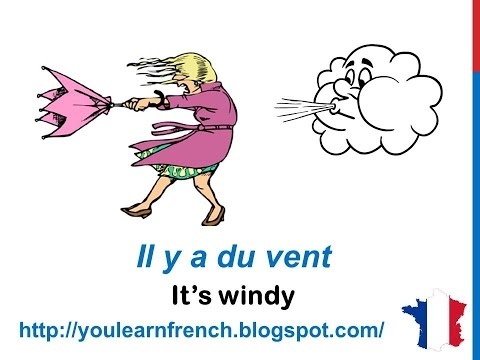 French Lesson 35 - Describe THE WEATHER in French expressions LE TEMPS CLIMAT Il fait froid chaud