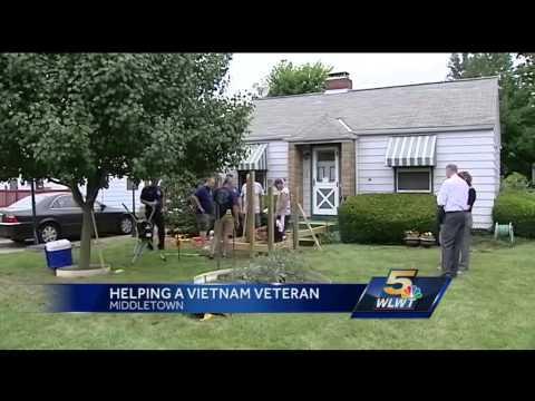 Firefighters surprise Vietnam vet with wheelchair ramp