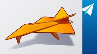 Paper Jet with Retractable Landing Gear that Flies! How to Fold Diamondback Alpha by Jayson Merrill