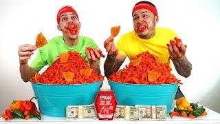 HOT CHEETOS CHALLENGE!!! ($20,000 CASH BET)  **REMATCH**