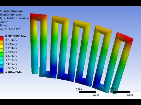 ANSYS: Thermal stress and strain in solid