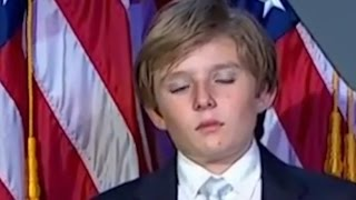 Trump's Sleepy Son Barron
