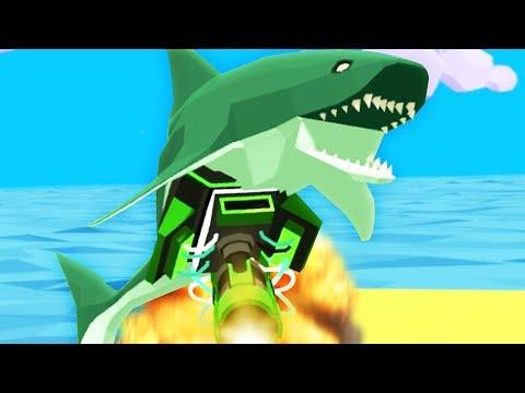 CRAZY SHARK WITH A SHOTGUN! - Shark Simulator   Pungence