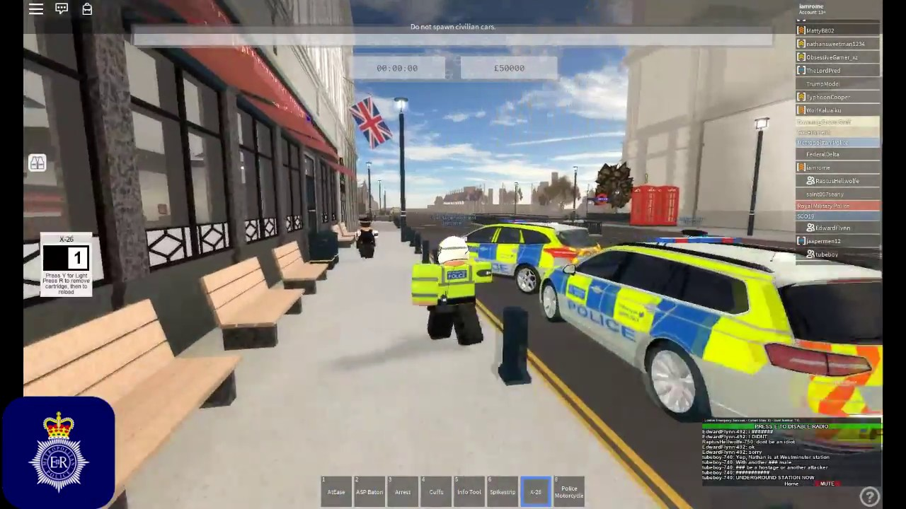 Roblox New City Of London Uk Uk Policing The British