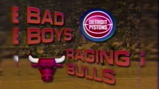 BEEF between Bulls and Pistons (1991.04.21 Pre-Game Show)