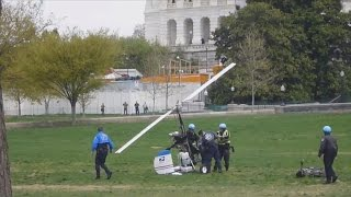 Watch: Man lands gyrocopter on U.S. Capitol's west lawn