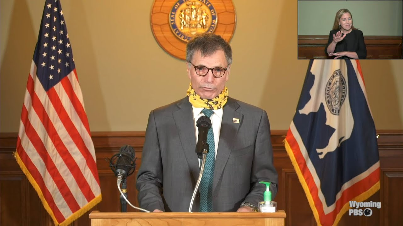 Governor Mark Gordon's Press Conference on COVID-19 - July 1, 2020