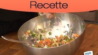 Préparation d'une sauce vierge : Les étapes