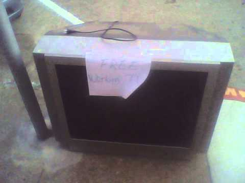 2005 Toshiba 27A45 CRT Television Set on the Street