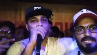 Emiway With Raftaar Live Sadak performance  at Delhi