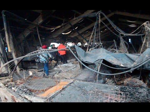 Вьетнамский рынок после пожара. Торговцы увидели пепелище