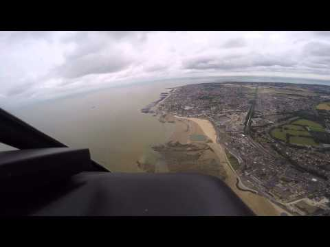Flying over Thanet