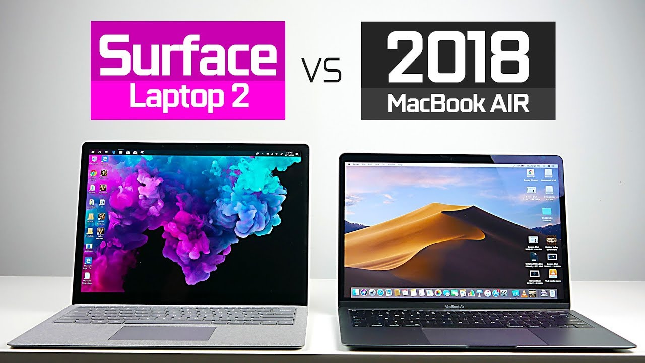 2018 MacBook Air vs Surface Laptop 2 - YouTube