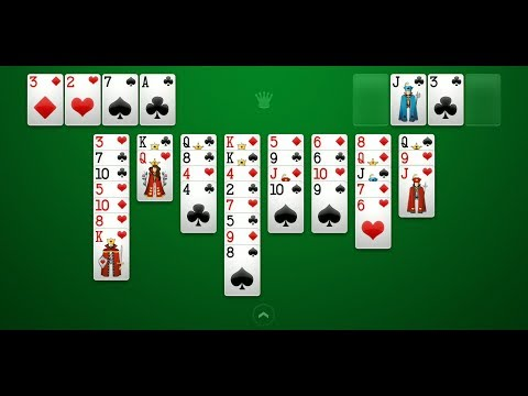 FreeCell Solitaire (by Brainium Studios) - Card Game For Android And IOS - Gameplay.