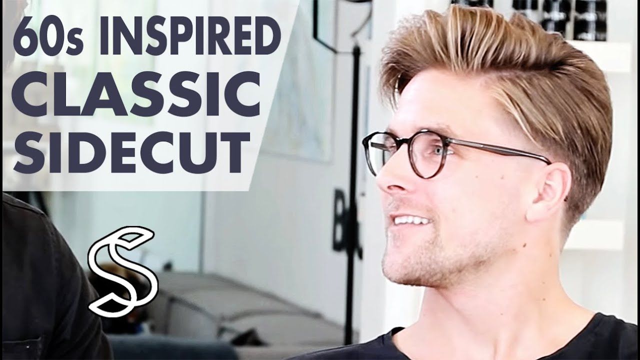 60s inspired hairstyle for men - classic side parting - men's sidecut hair