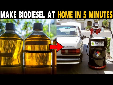 How to make Biodiesel at Home in 5 Minutes..!   Biofuel From used Vegetable oil / Cooking Oil