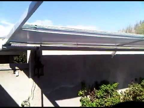 toldo retractil policarbonato 3gp youtube