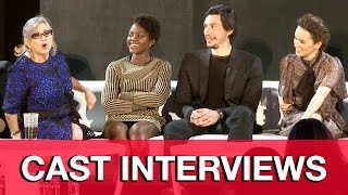 star wars the force awakens press conference carrie fisher daisy ridley adam driver jj abrams
