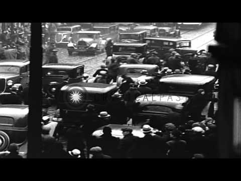 Workers on strike at New York Shipbuilding Company Plant in Camden, New Jersey. HD Stock Footage