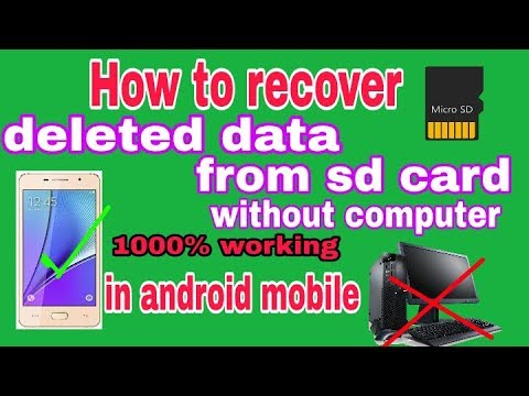How To Recover Deleted Data From Android Mobile/sd Card || Without Computer Only In Android Mobile