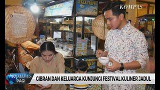 Gibran dan Keluarga Menjajal Makanan di Festival Kuliner Tradisional Solo