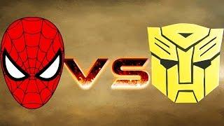 BUMBLEBEE ARMY VS SPIDERMAN ARMY - MASSIVE SUPERHEROES WAR - MARVEL VS TRANSFORMER