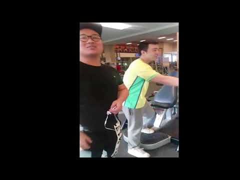 Young Thugs Harass Two Chinese Guys at Gym!! ((MUST WATCH!))