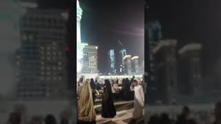 Roof of Masjid Al Haram after tahajjud prayer Ramadan 2018