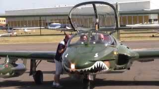 cessna a 37 dragonfly vh azd parking and shutdown up close