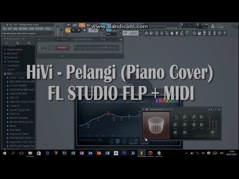 HiVi - Pelangi (FL STUDIO PIANO COVER) FLP + MIDI DOWNLOAD
