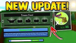 NEW UPDATE!! (CODE, Boss, Secrets Chests, Gold Haropoons) | Build a boat for Treasure ROBLOX