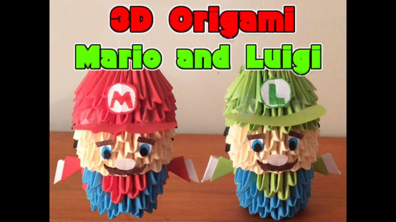 3d Origami Mario And Luigi Youtube