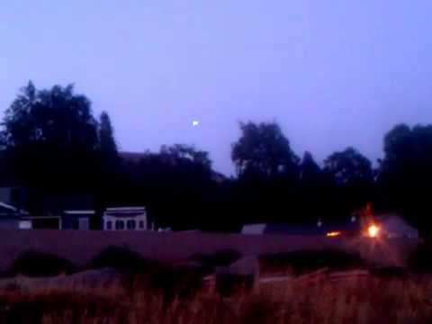 Ufo captured hovering over san fernando valley,ca