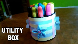 DIY UTILITY BOX BY QUILLING PAPERS