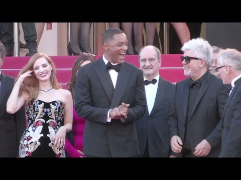 Pedro Almodovar, Jessica Chastain, Will Smith and the jury in Cannes